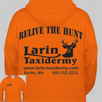 Hooded Sweatshirt Orange     RELIVE THE HUNT     Larin Taxidermy