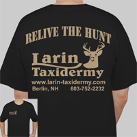 Short Sleeve T-Shirt Black     RELIVE THE HUNT     Larin Taxidermy