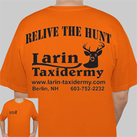 Short Sleeve T-Shirt Orange     RELIVE THE HUNT     Larin Taxidermy